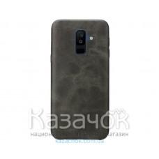 Кожанная накладка T-PHOX Samsung A6 Plus 2018/A605 Vintage Brown