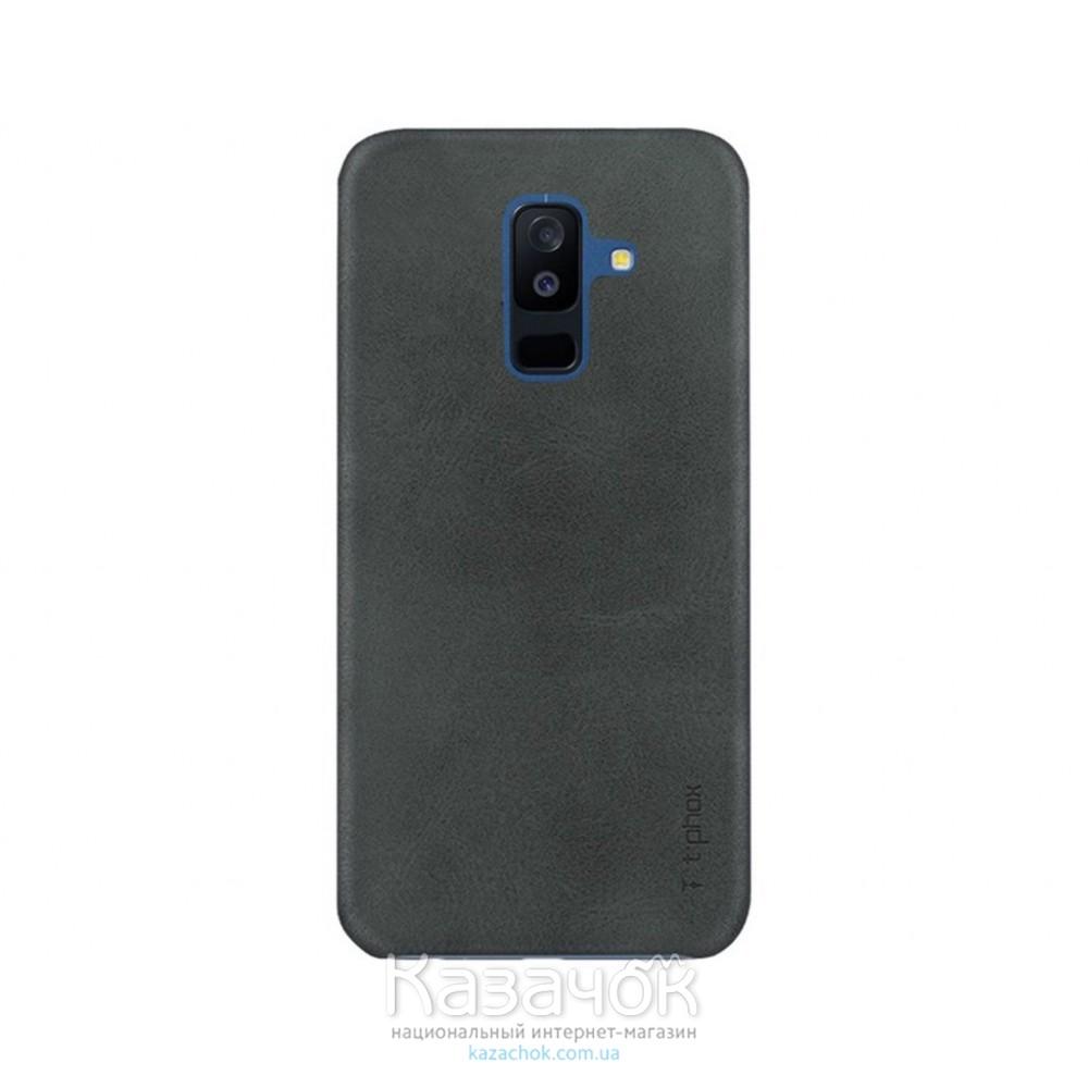 Кожанная накладка T-PHOX Samsung A8 Plus 2018/A730 Vintage Black