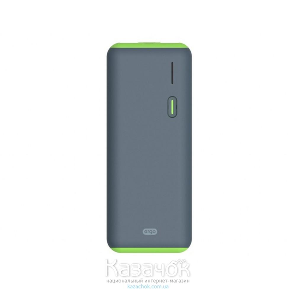 Внешний Аккумулятор Ergo LI-S86 12500 mAh Rubber Grey