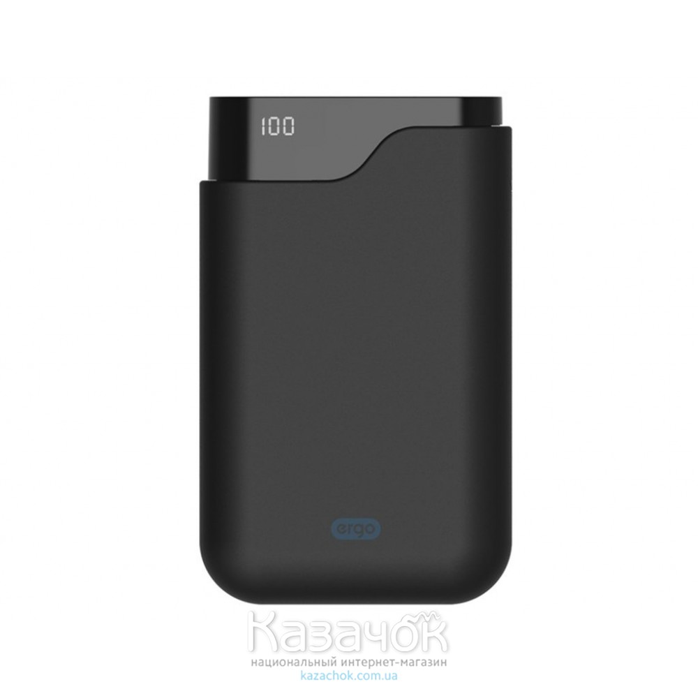 Внешний Аккумулятор Ergo LI-U4 10000 mAh TYPE-C Rubber Black