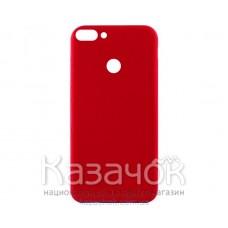 Силиконовая накладка Inavi Simple Color для Huawei P Smart Navy Red