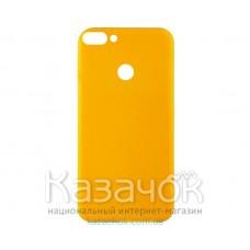 Силиконовая накладка Inavi Simple Color для Huawei P Smart Navy Yellow