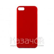 Силиконовая накладка Inavi Simple Color для iPhone 7/8 Red