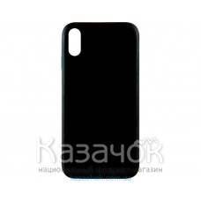 Силиконовая накладка Inavi Simple Color для iPhone X Black