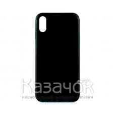 Силиконовая накладка Inavi Simple Color для iPhone XS Max Black