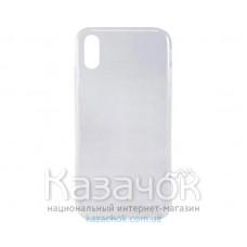 Силиконовая накладка Inavi Simple Color для iPhone XS Max Transparent