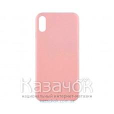Силиконовая накладка Inavi Simple Color для iPhone XS Peach