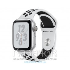 Apple Watch Series 4 GPS 40mm Silver Aluminum Case with Pure Platinum/Black Nike Sport Band (MU6H2)