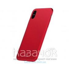Чехол Baseus Meteorite для iPhone X/XS Red (WIAPIPHX-YU09)