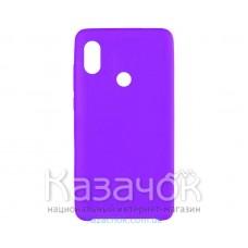 Силиконовая накладка Silicone Case для Xiaomi Redmi 6 Pro/Mi A2 Violet