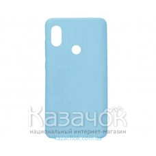 Силиконовая накладка Silicone Case для Xiaomi Redmi 6 Pro Mi A2 Turquoise