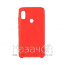 Силиконовая накладка Silicone Case для Xiaomi Redmi 6 Pro Mi A2 Red