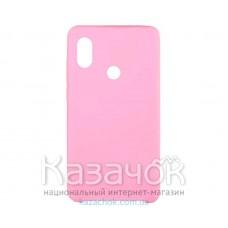 Силиконовая накладка Silicone Case для Xiaomi Redmi 6 Pro Mi A2 Pink