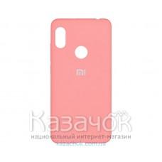 Силиконовая накладка Silicone Case для Xiaomi Redmi Note 7 Pink Gold
