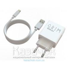 Сетевое зарядное устройство Grim Quick Pro CQP0119T Travel Charger+Lightning