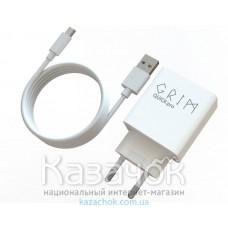 Сетевое зарядное устройство Grim Quick Pro CQP0119T Travel Charger+Micro USB