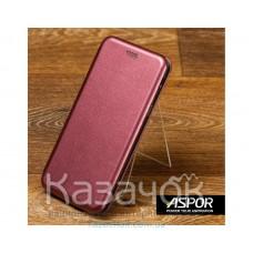 Чехол-книжка Aspor для Samsung A20s 2019 A207 Leather Burgundy
