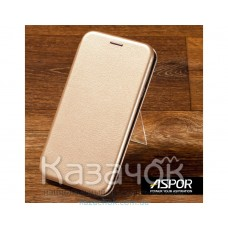 Чехол-книжка Aspor для Samsung A20s 2019 A207 Leather Gold
