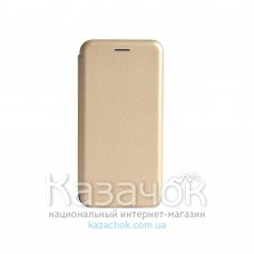 Чехол-книжка Premium Leather Case для Samsung A01/A015 2020 Gold