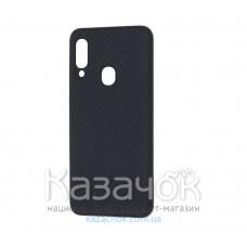 Накладка карбоновая Kevlar для Samsung A20s/A207 Black