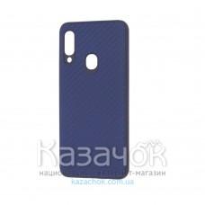 Накладка карбоновая Kevlar для Samsung A20s/A207 Blue