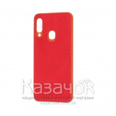 Накладка карбоновая Kevlar для Samsung A20s/A207 Red