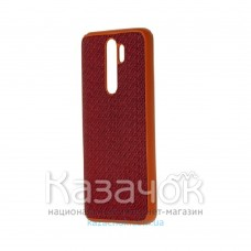 Накладка карбоновая Kevlar для Xiaomi Redmi Note 8 Pro Red