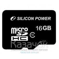 MicroSDHC 16 GB Silicon Power Class 4 + SD Adapter