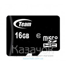 MicroSDHC 16 GB Team Class 4 + SD Adapter