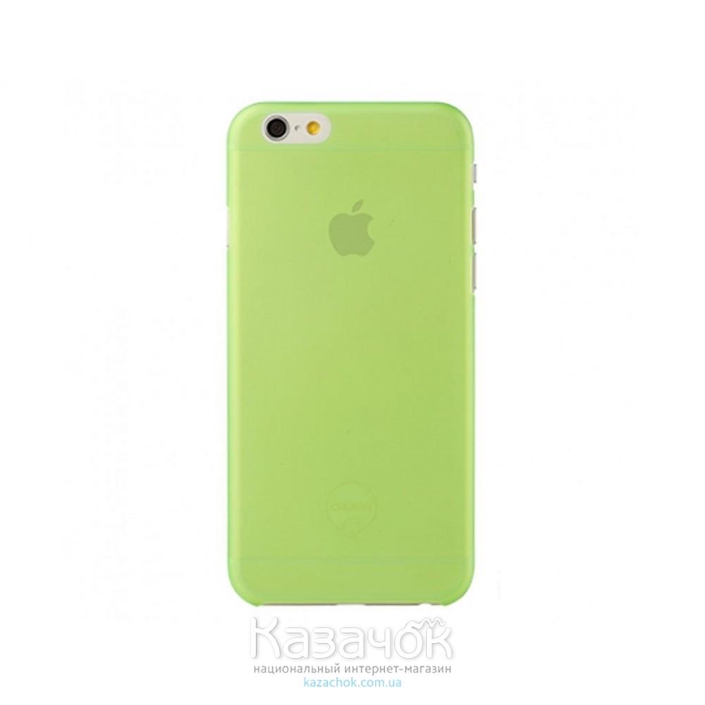 Чехол Ozaki O!coat 0.3 Jelly iPhone 6 Green (OC555GN)