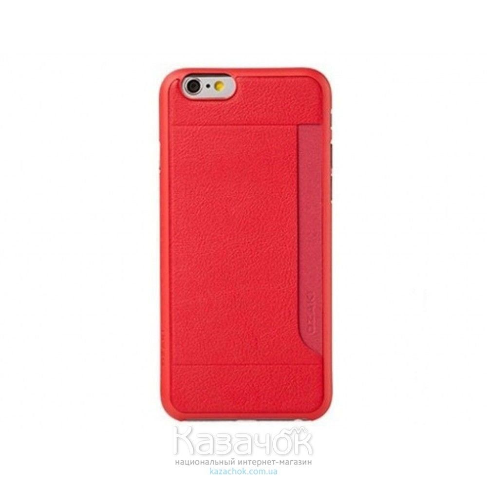 Чехол OZAKI O!coat 0.3+ Pocket iPhone 6 Red