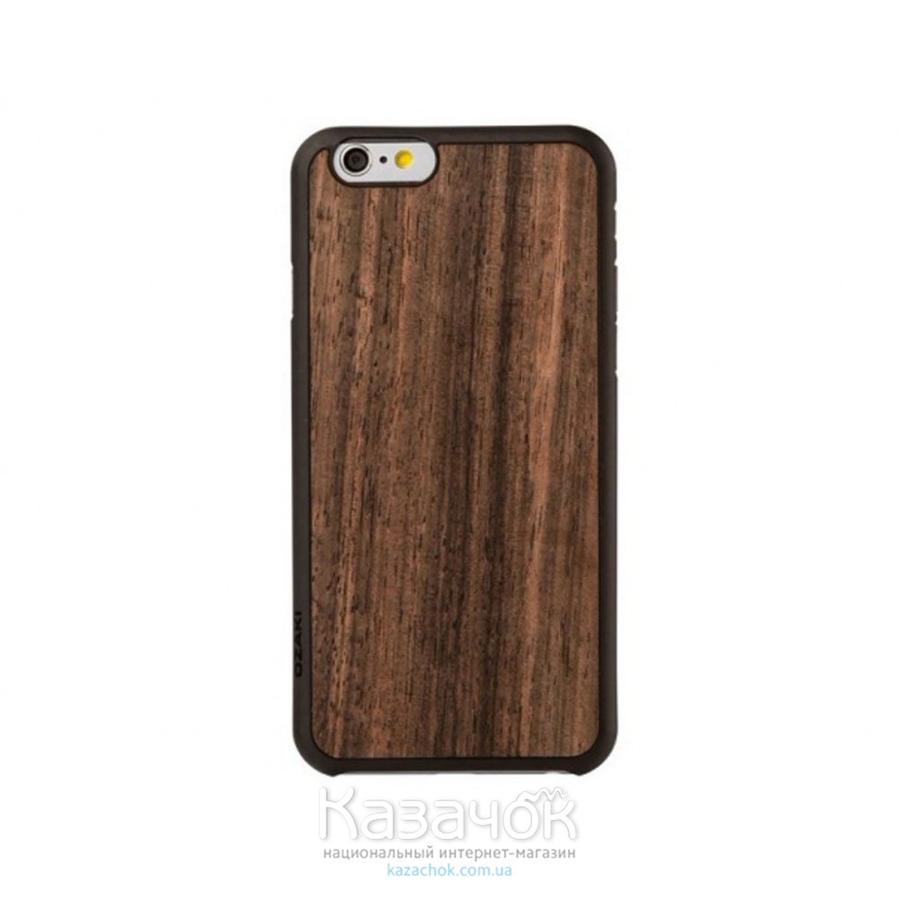 Чехол Ozaki O!coat 0.3+ Wood iPhone 6 Ebony (OC556EB)