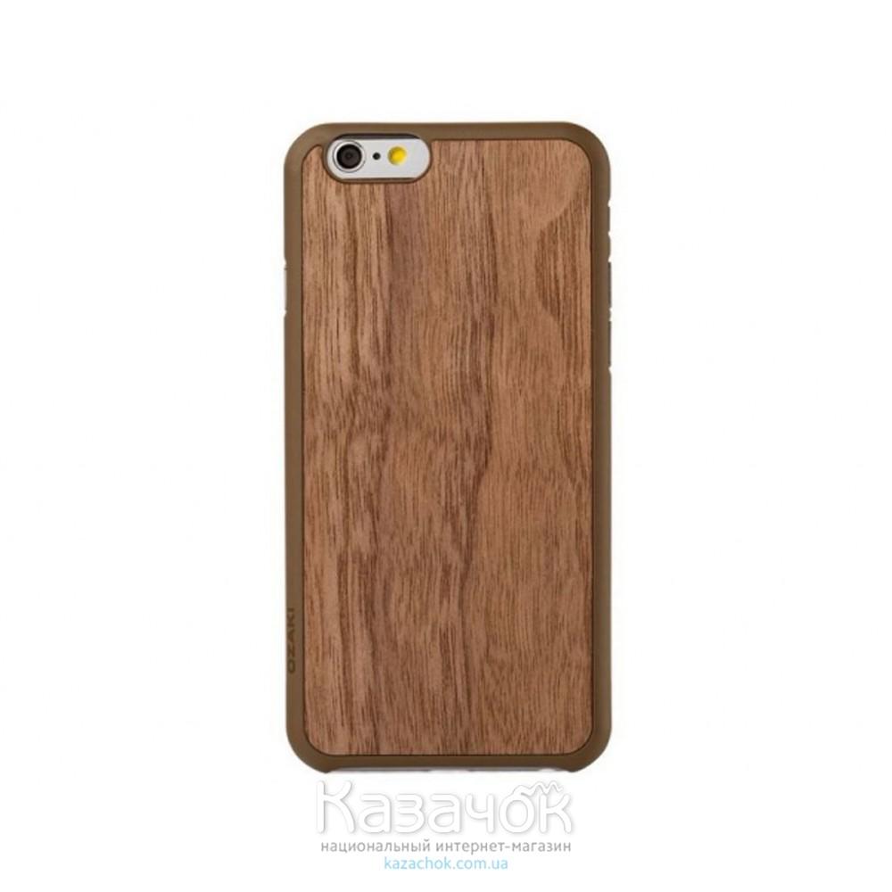 Чехол Ozaki O!coat 0.3+ Wood iPhone 6 Walnut (OC556WT)
