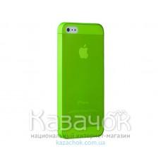 Чехол Ozaki O!coat 0.3 Jelly iPhone 5/5S Green (OC533GN)