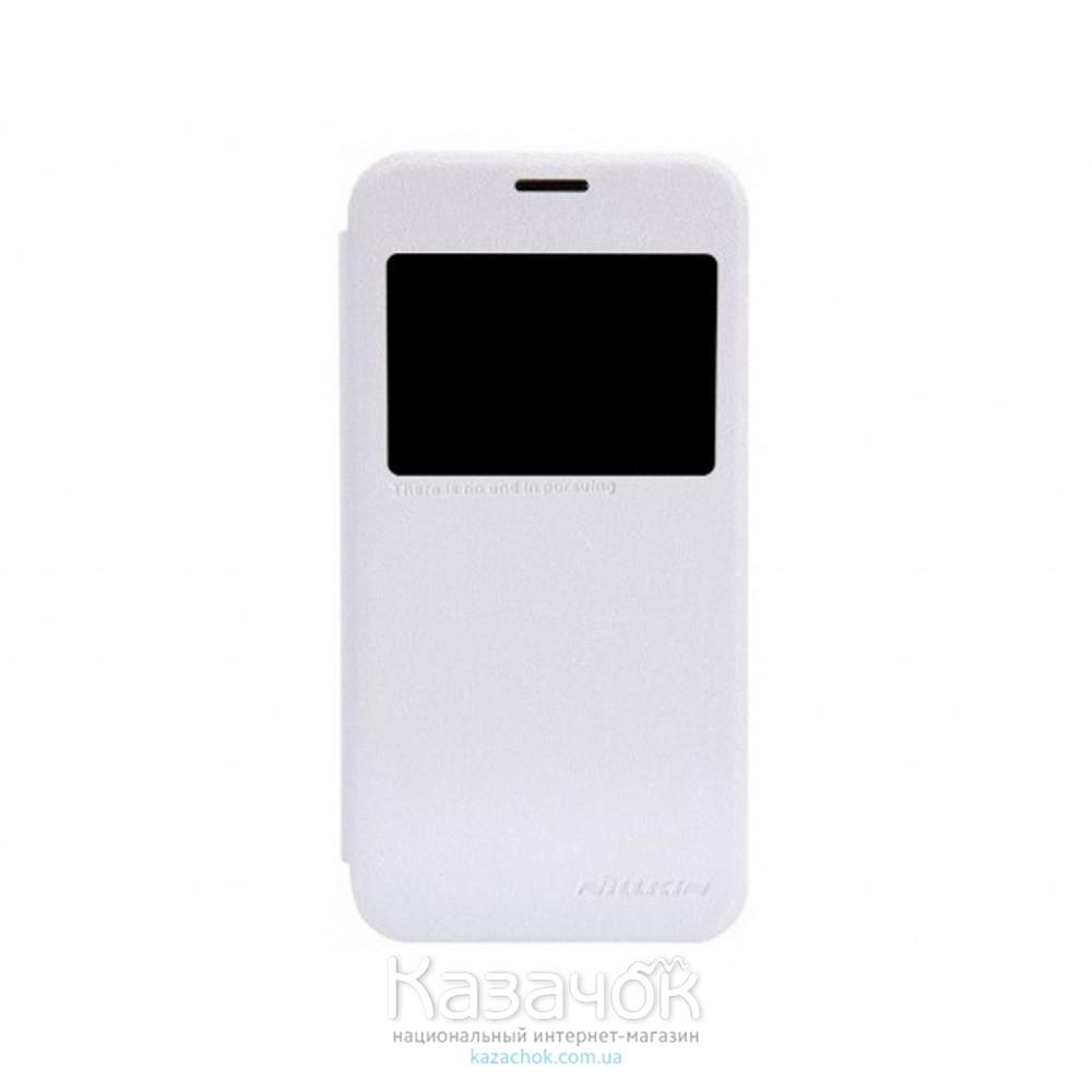 Чехол Nillkin Sparkle Series для Samsung G800 Galaxy S5 mini White