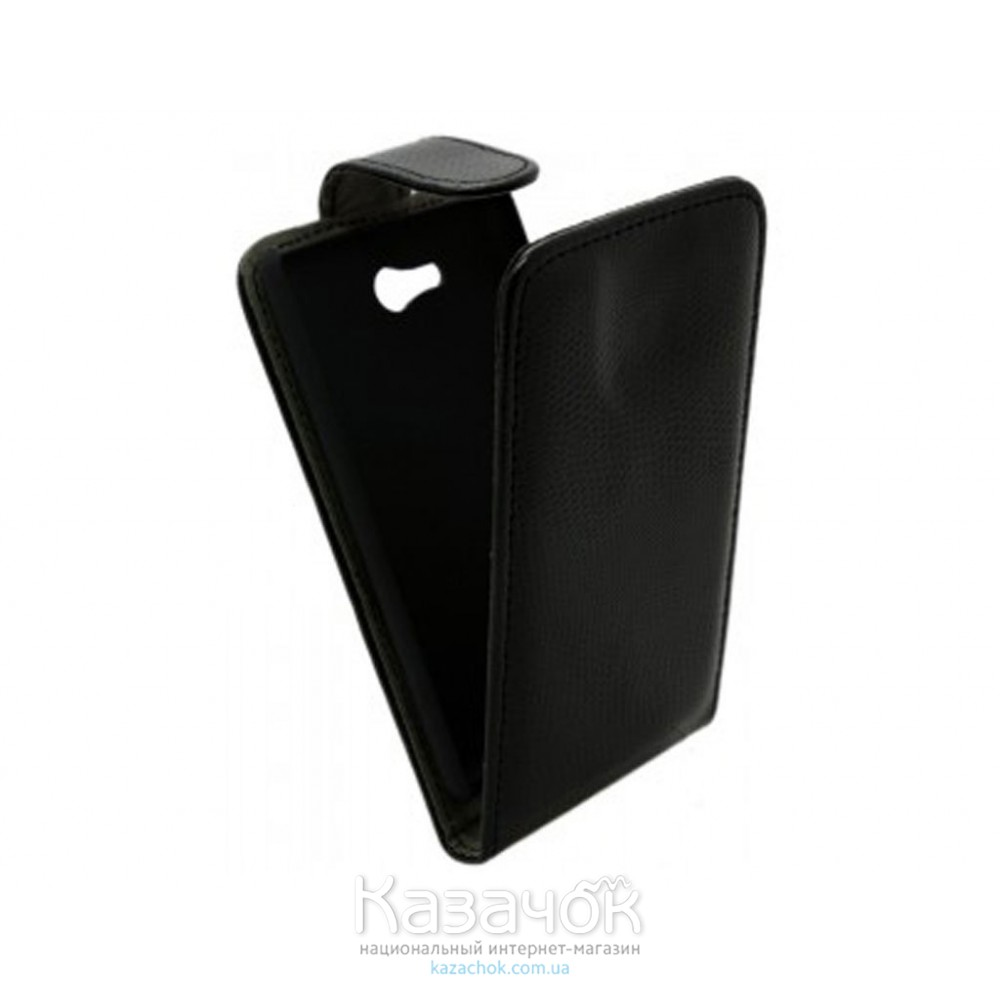 Чехол-книжка Croco Case for Samsung G130 Black