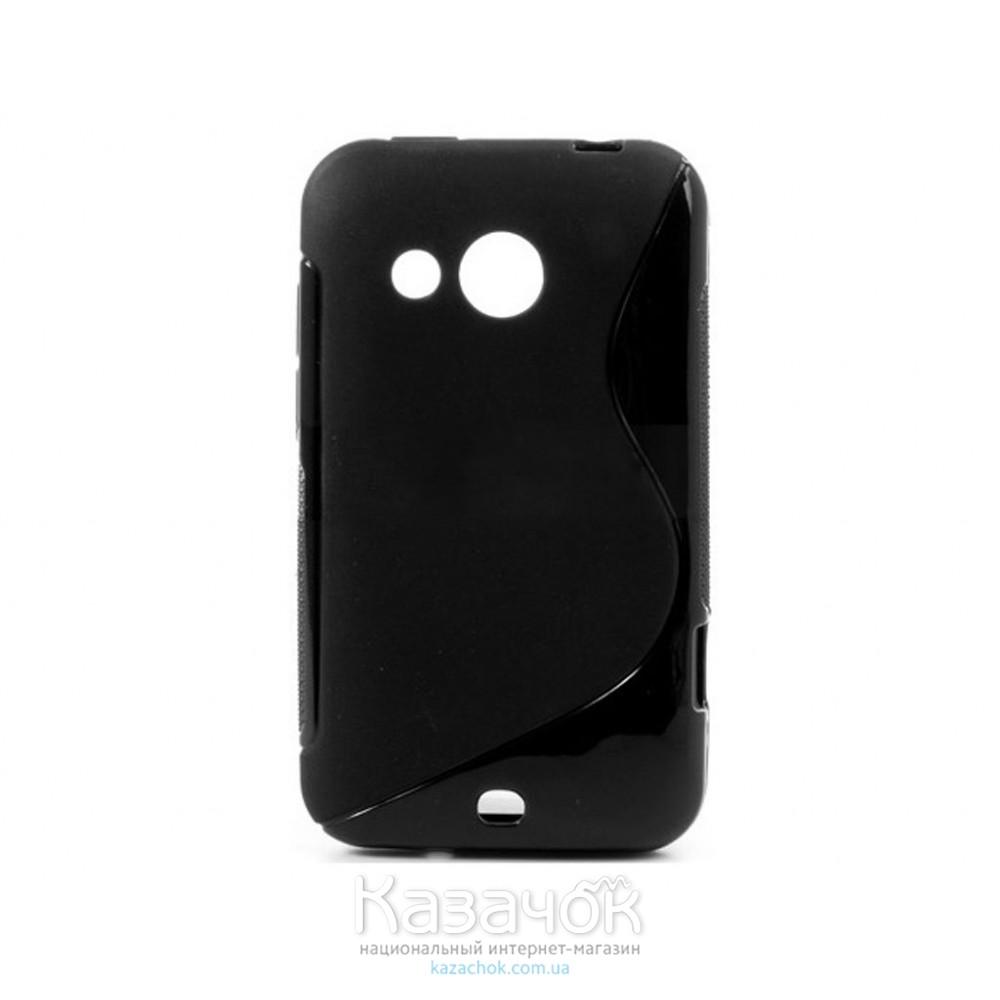 Чехол-накладка TPU cover case for HTC Desire 200 Black