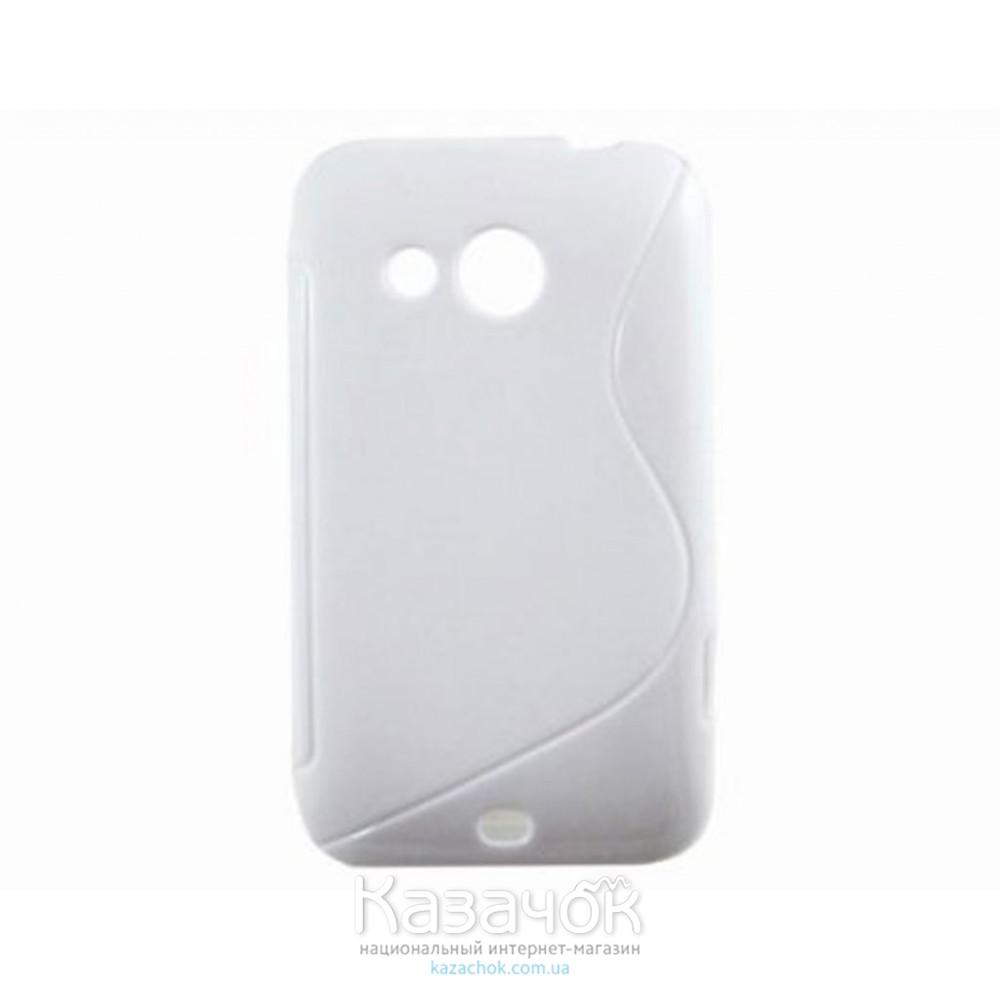 Чехол-накладка TPU cover case for HTC Desire 200 White
