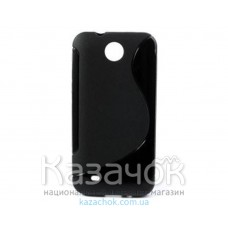 Чехол-накладка TPU cover case for HTC Desire 300 Black