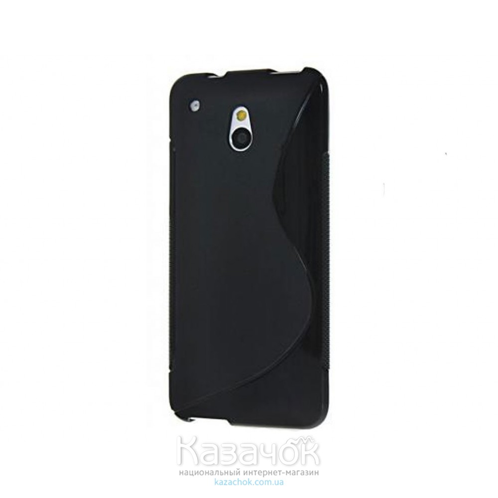 Чехол-накладка TPU cover case for HTC One mini M4 Black