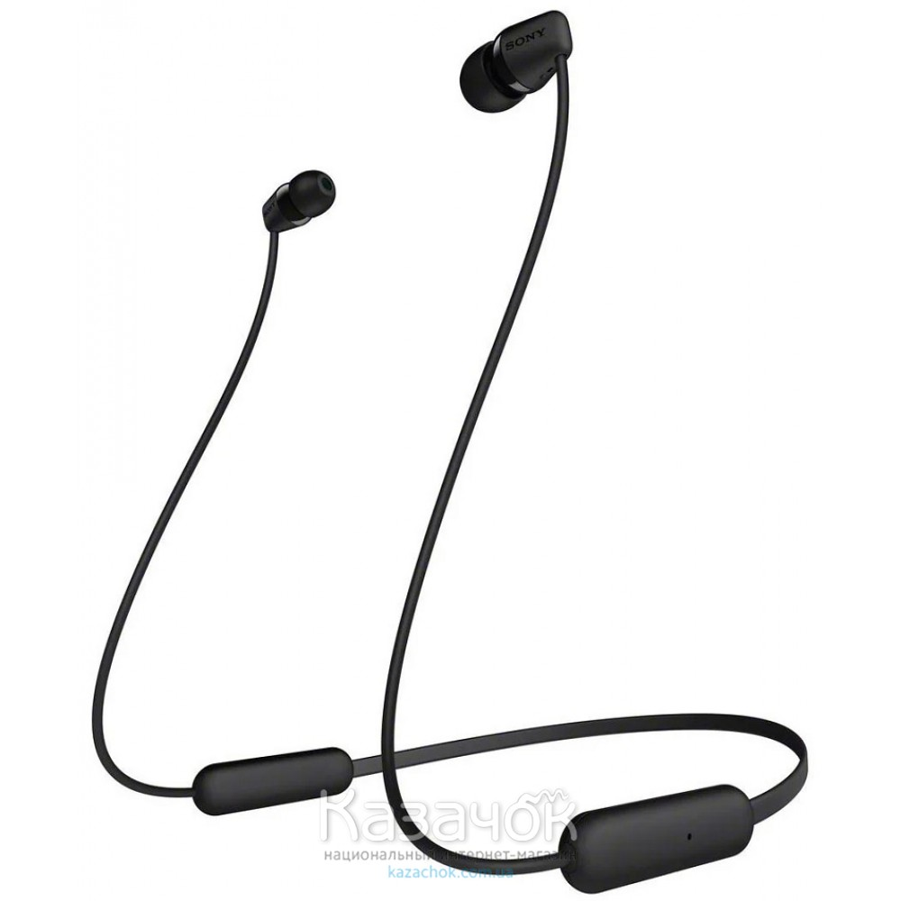 Наушники Bluetooth Sony WI-C200 Black (WIC200B.CE7)