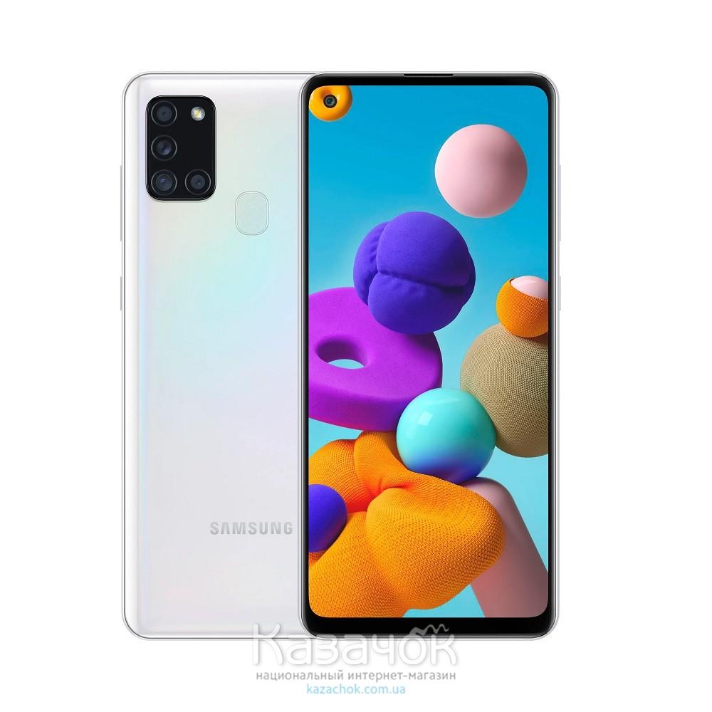 Смартфон Samsung Galaxy A21s 2020 A217F 3/32GB White (SM-A217FZWNSEK)