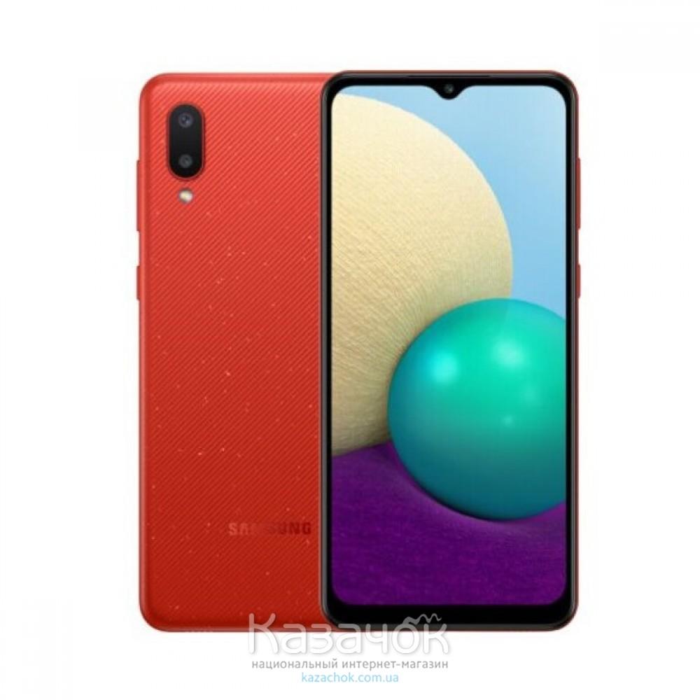 Смартфон Samsung Galaxy A02 2/32GB Red (SM-A022GZRBSEK)