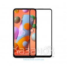 Защитное стекло 5D Lion Full Glue для Samsung A11/A115 2020 Black